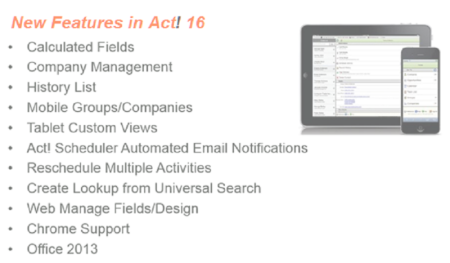 Act! 16 New Features